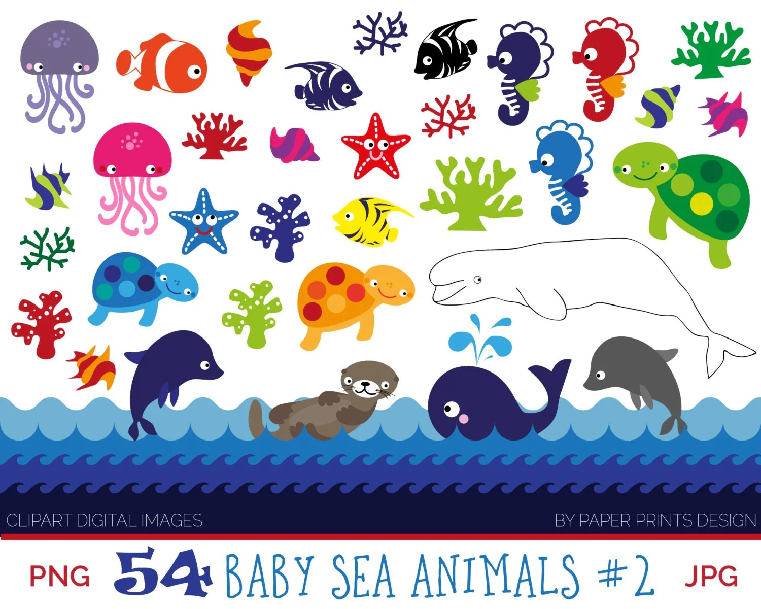 54 Baby Sea Animals Clipart Sea Animals Patterns Clipart