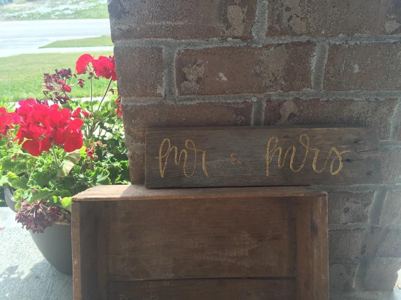 Mr. & Mrs. Barnwood Sign Wedding Head Table Home Decor