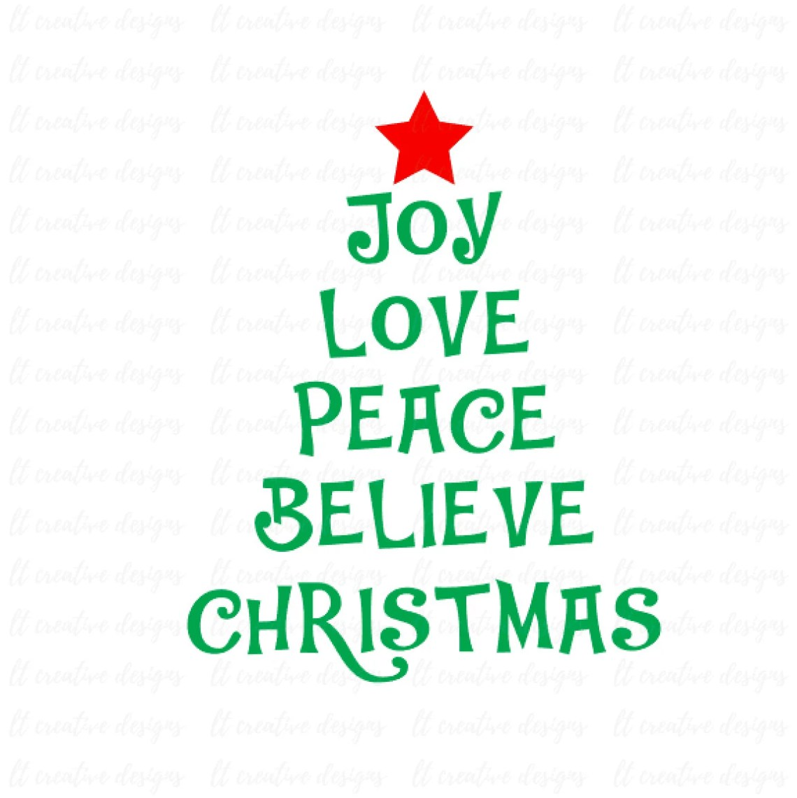 Download Joy Love Peace Believe Christmas SVG Files Christmas