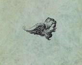Winged Angel Cherub Side ...