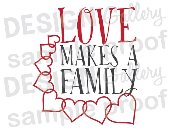Download Items similar to Love Makes A Family - DIY Instant ...