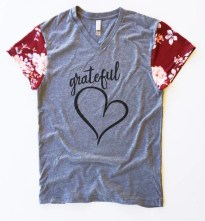 Grateful Heart T-Shirt, Adult, Teen Tee