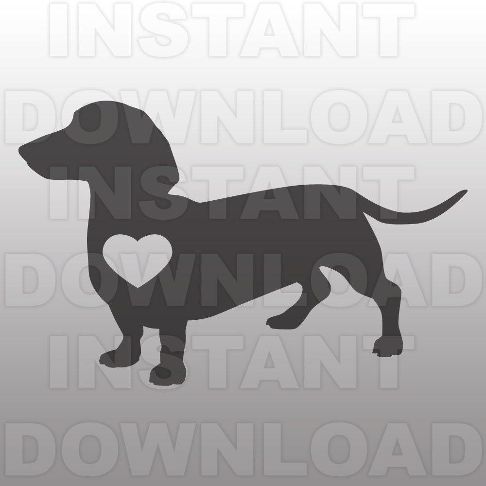 Download Daschund Heart SVGWeiner Dog Heart SVG File-Cutting