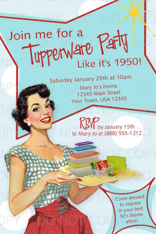 Free Printable 50s Invitations