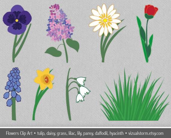 Flower Clip Art Spring Garden Flowers Clipart By VizualStorm