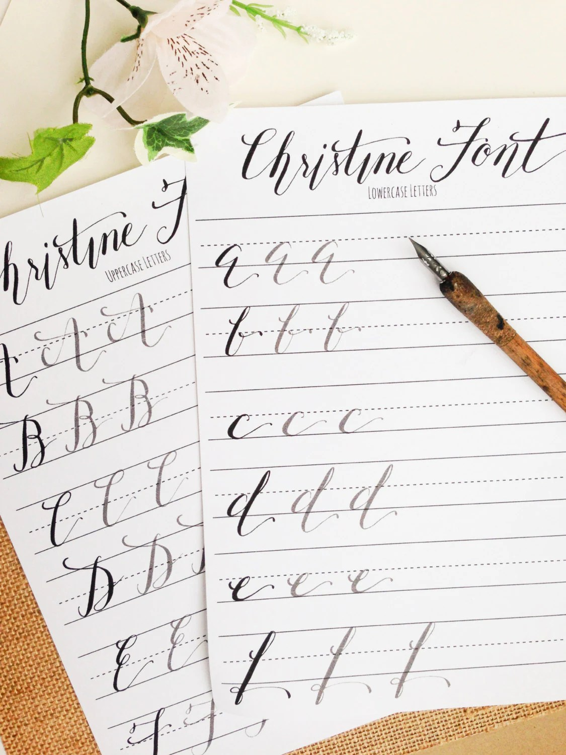 Modern Calligraphy Practice Worksheets