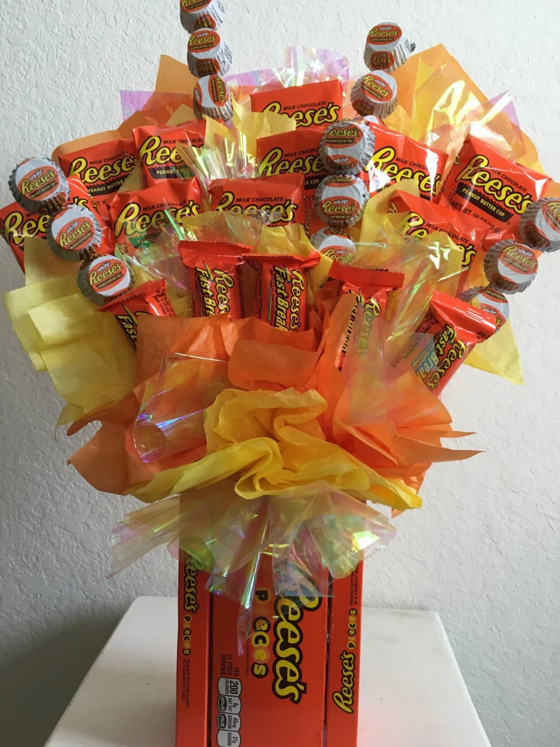 Items Similar To Reeses Candy Bouquet On Etsy