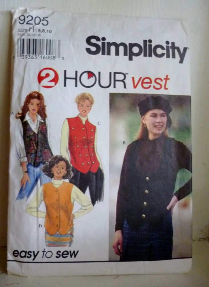 Simplicity 9205 vest with...
