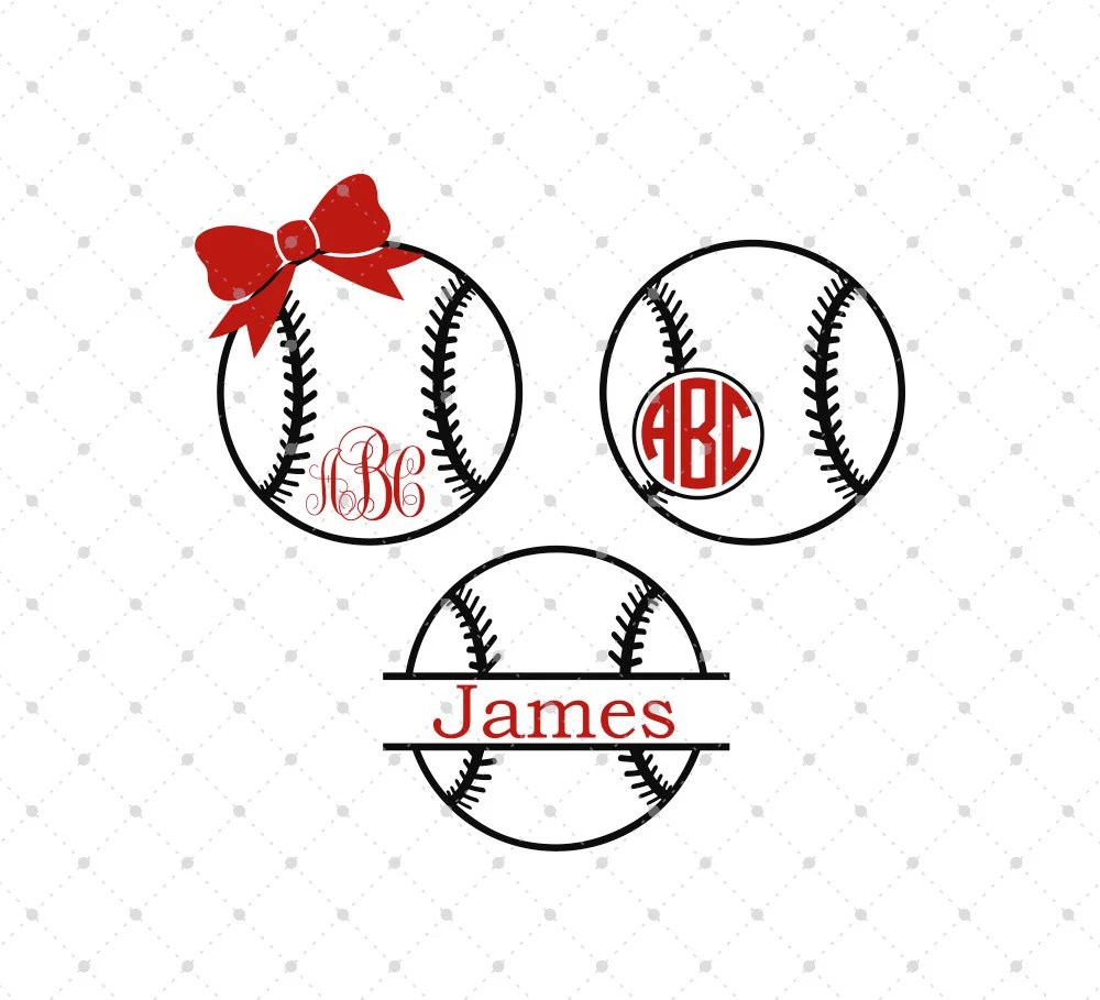 Download Baseball SVG Cut Files Baseball Monogram Frame SVG cut files