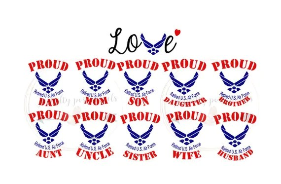 Download SVG Retired Air Force Love Retired Military by ...