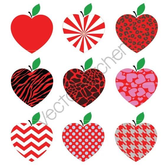 Download Heart Shaped Apple Monogram Frame and Normal Design ...