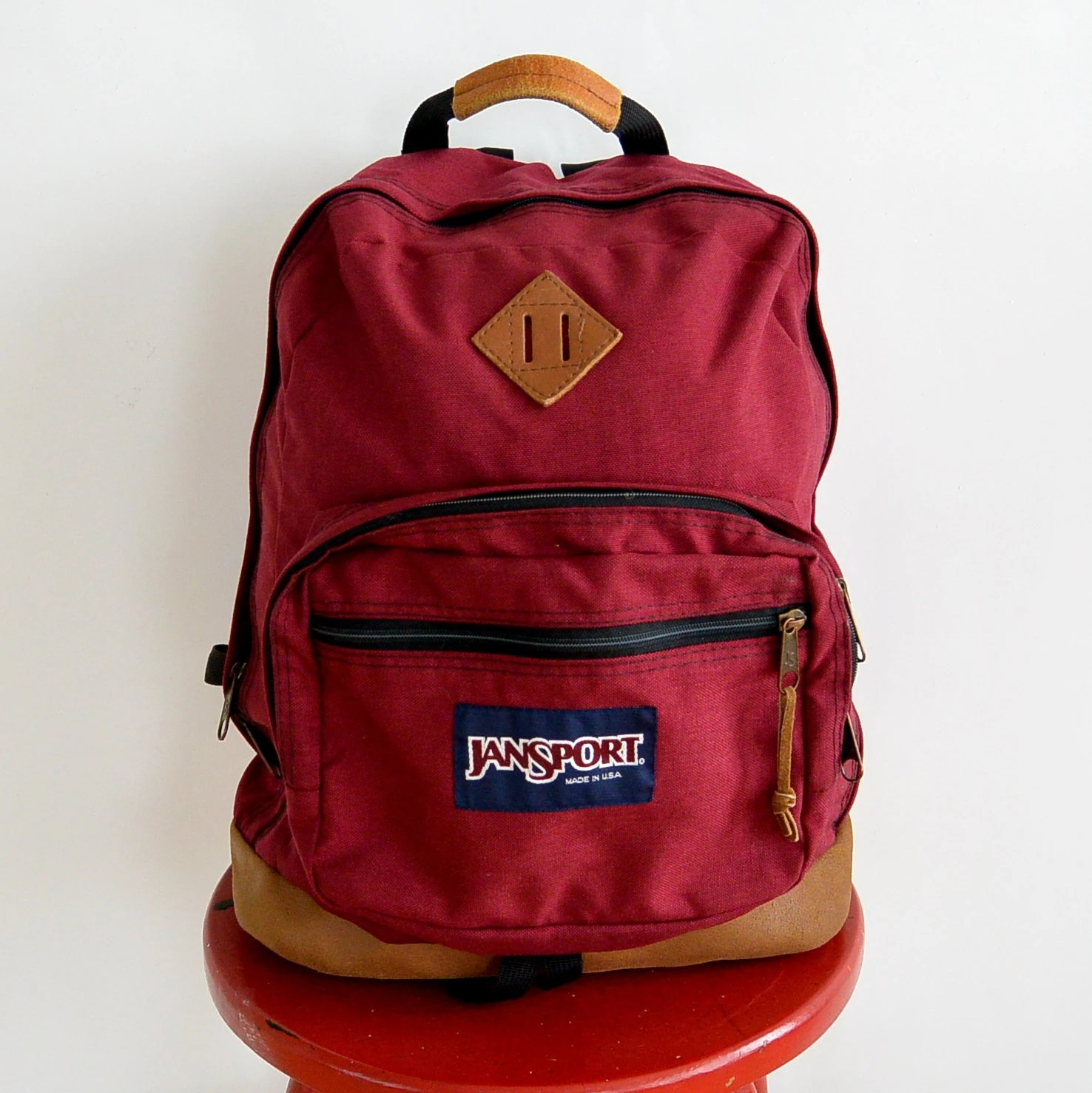 And Bottom Leather Bottom Black Backpack Jansort Maroon Suede