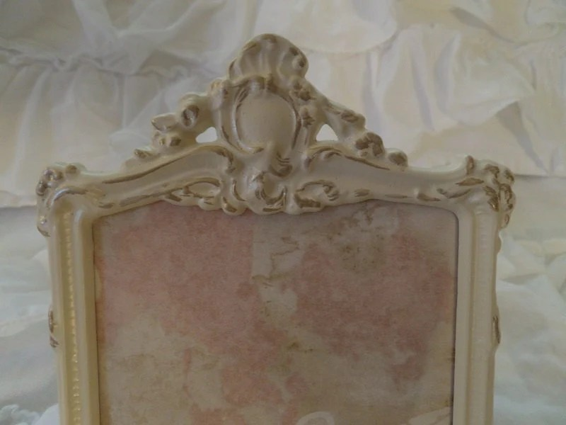 Beautiful Vintage Ornate Louis Gilt Roses Picture Frame Shabby