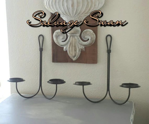 Farmhouse Candle Sconces Vintage Wrought Iron Rustic Wall
