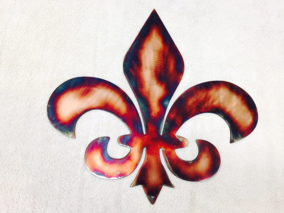 Metal Wall Art Plasma Cut Fleur-de-lis Home Decor
