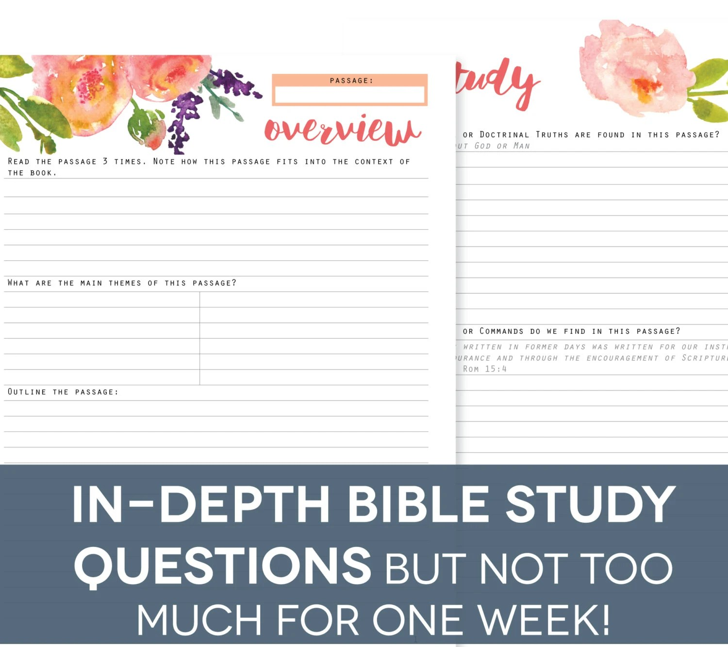 Bible Study Guide Printables Inductive By Perennialplanner