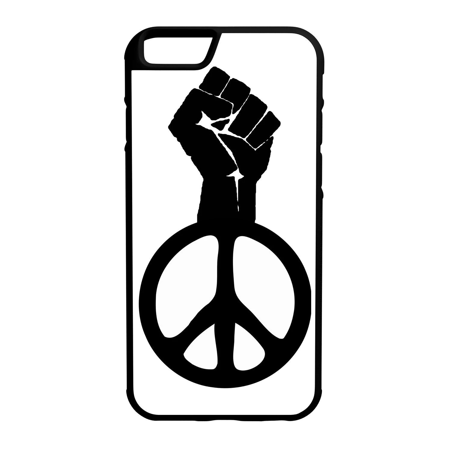 Raised Fist Peace Symbol Iphone Amp Galaxy Hybrid Rubber By