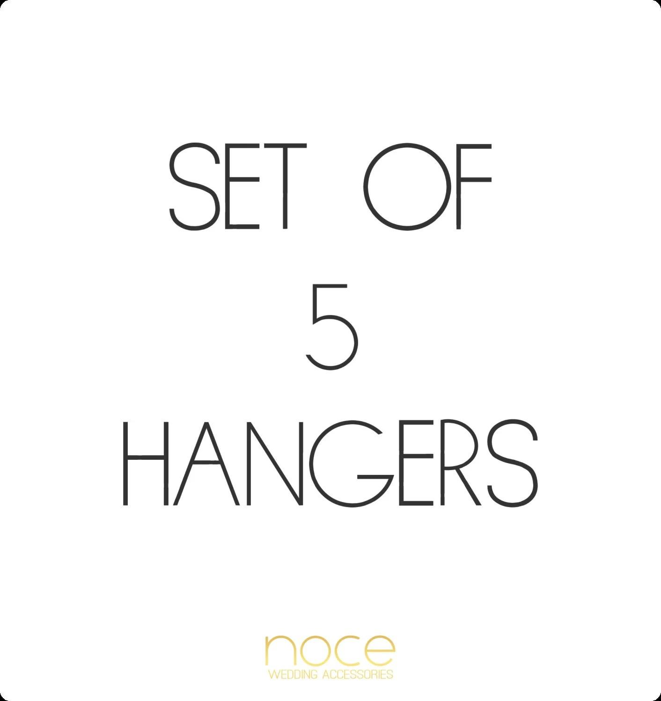 Set Of 5 Custom Bridal Hangers Wedding Hangers Bridal By Noce