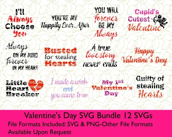 Download Valentine's Day SVG Bundle SVG and PNG files for Cutting