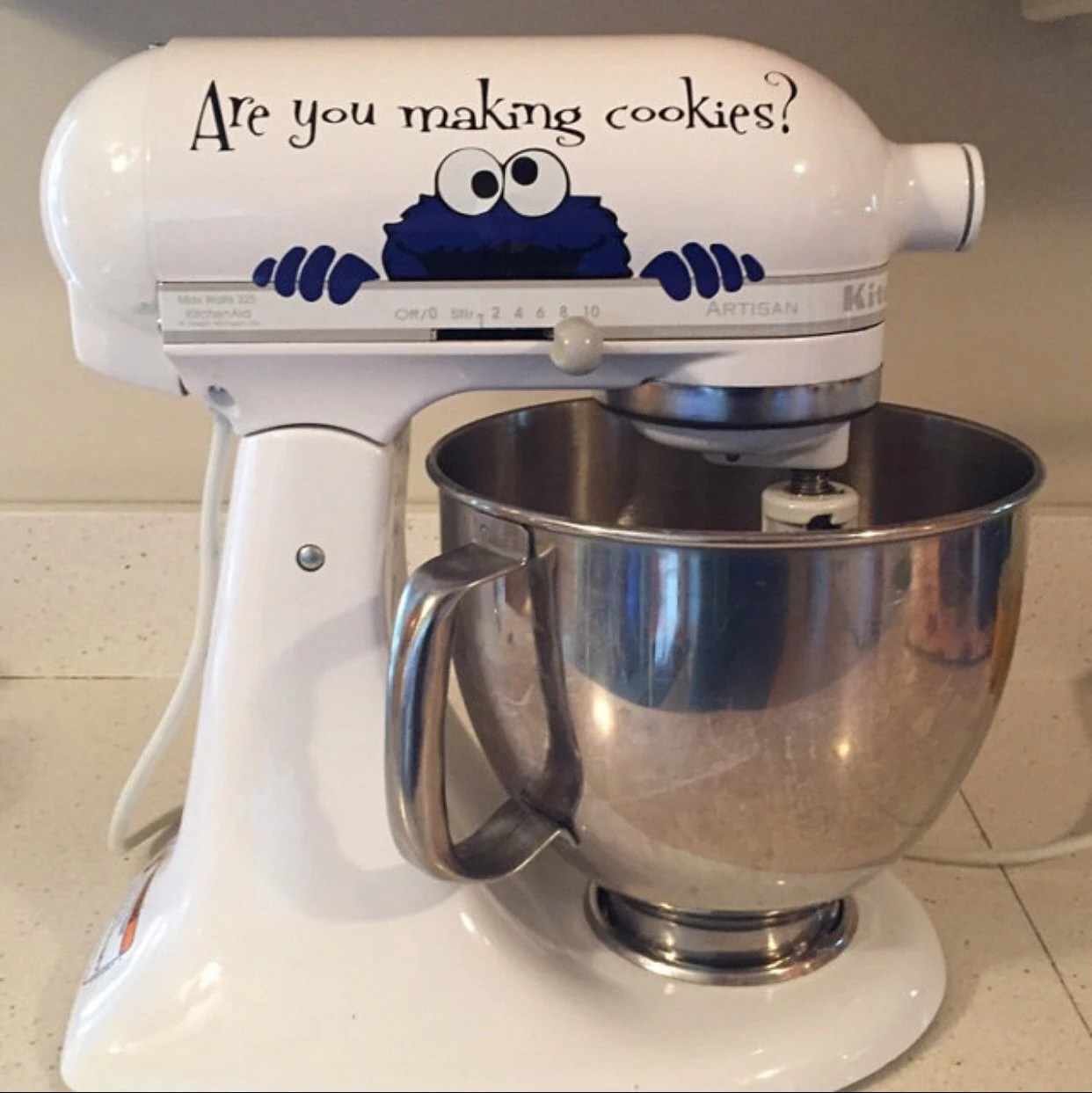 Kitchen Aid Decal Mixer Decal Cookie Monster By