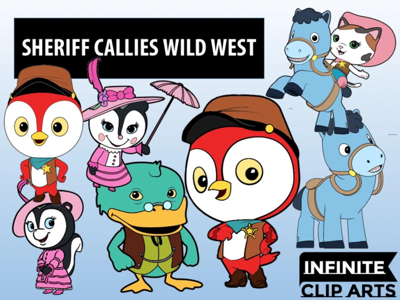 18 Sheriff Callie S Wild West Cartoon Clip Art Printable