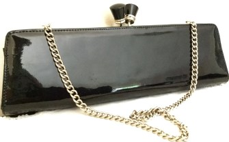 Vintage Clutch Bag - Vintage Aldo Purse - Patent Leather Clutch