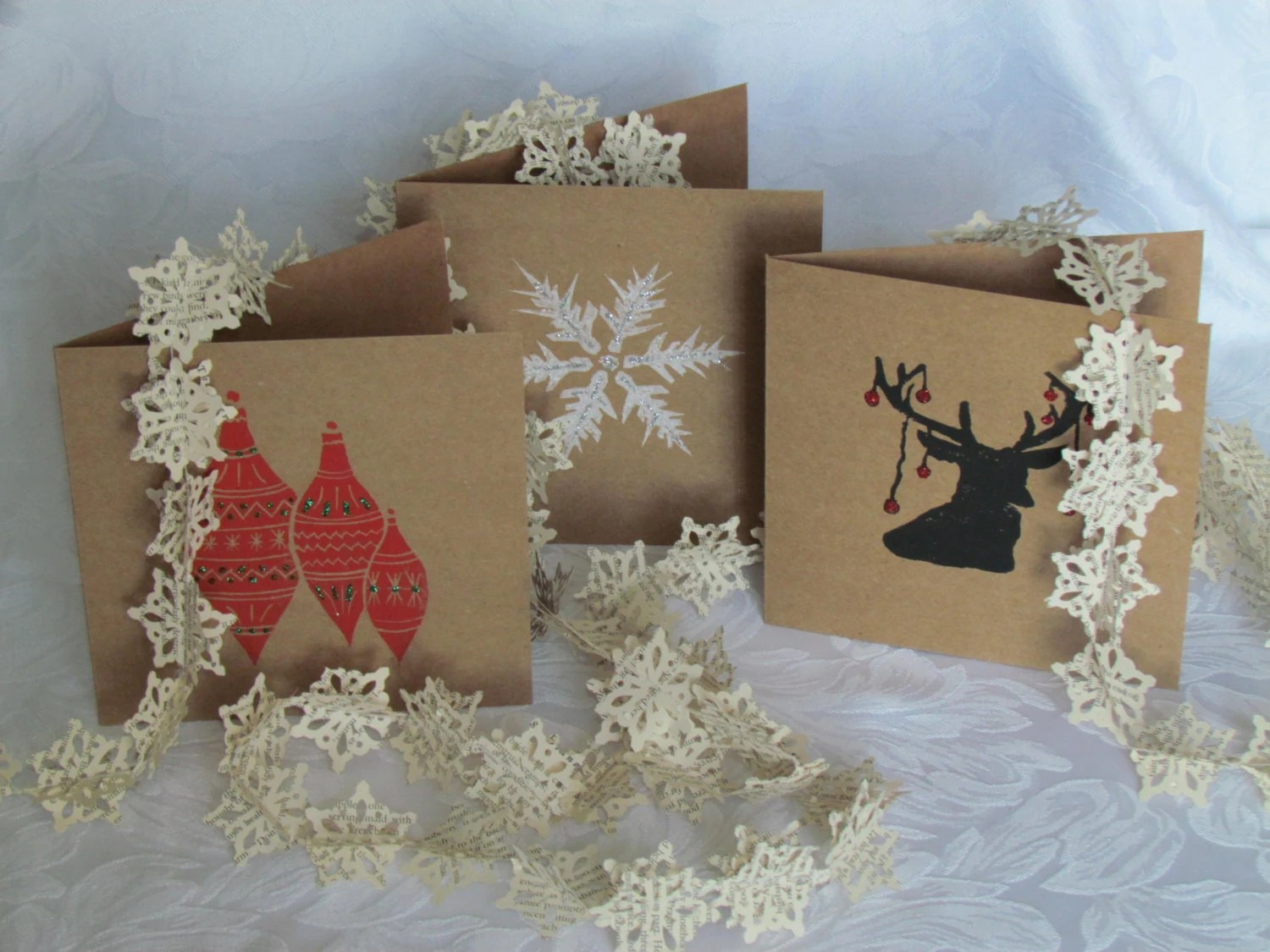 Items Similar To Lino Cut Christmas Cards On Etsy