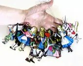 XL Alice in Wonderland Christmas Tree Ornaments