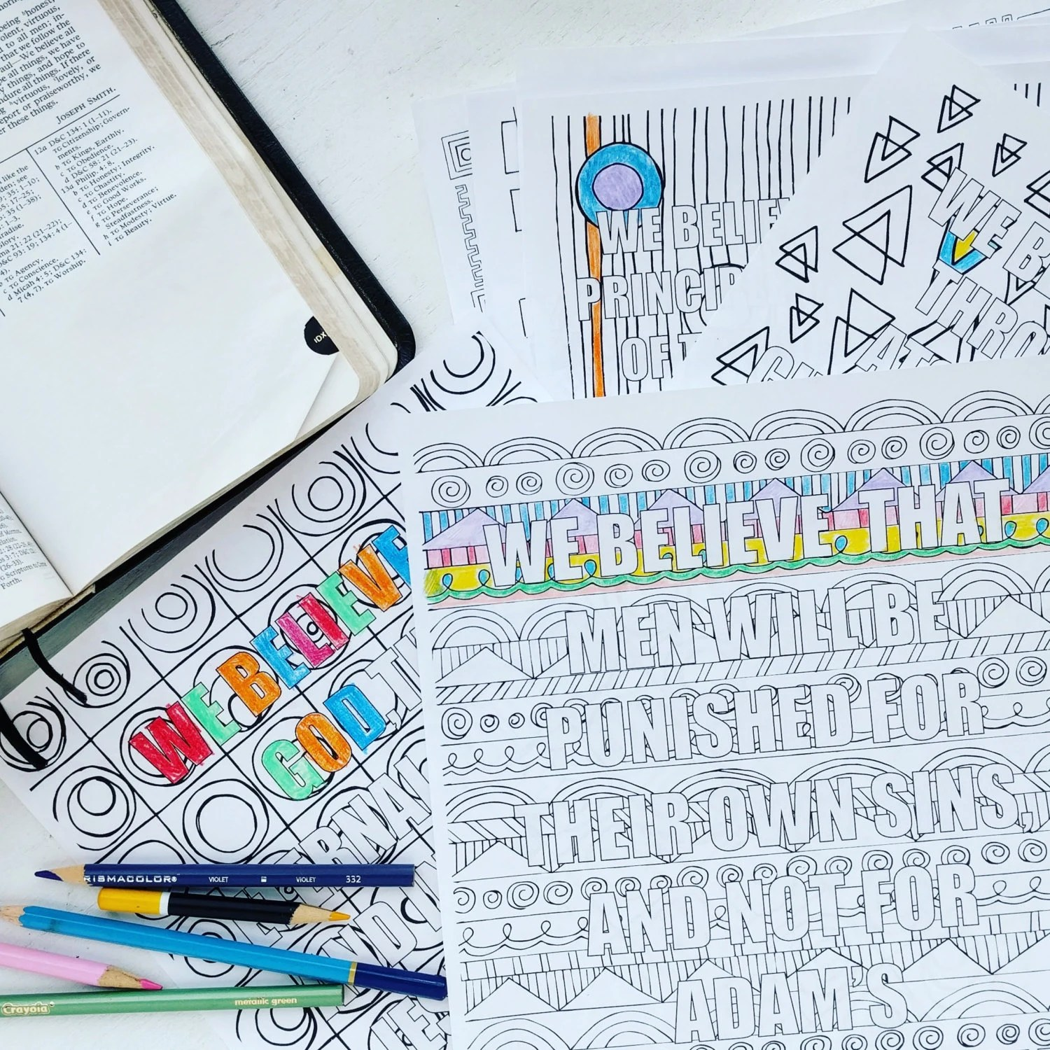 Lds Articles Of Faith Coloring Book