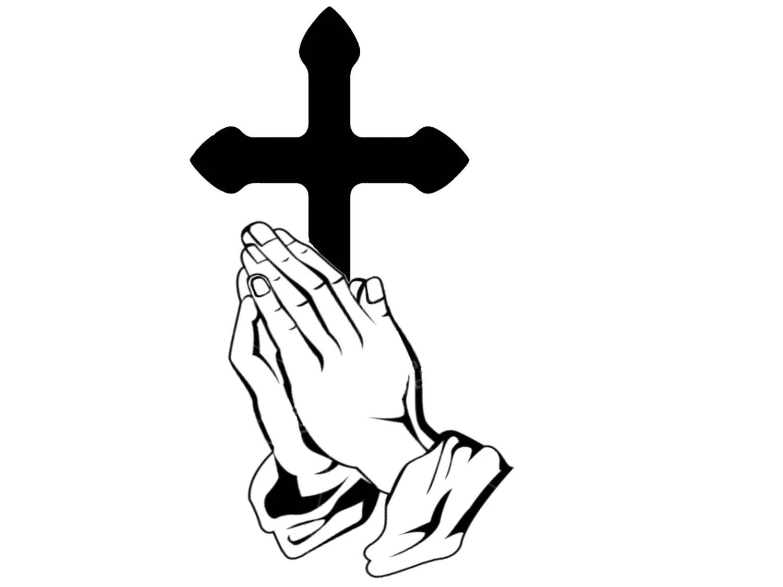 Praying Hands And Cross Decal Cross Decal Praying Hands