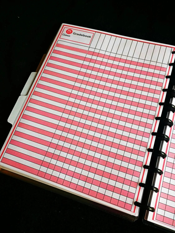 Assess This Teacher Planner Printable Gradebook Student