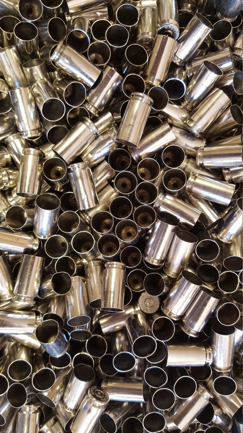 40 SW Once Fired Nickel Plated Brass 350 Pieces This Brass