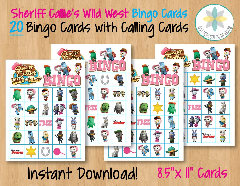 Sheriff Callie S Wild West Printable Bingo Cards 20