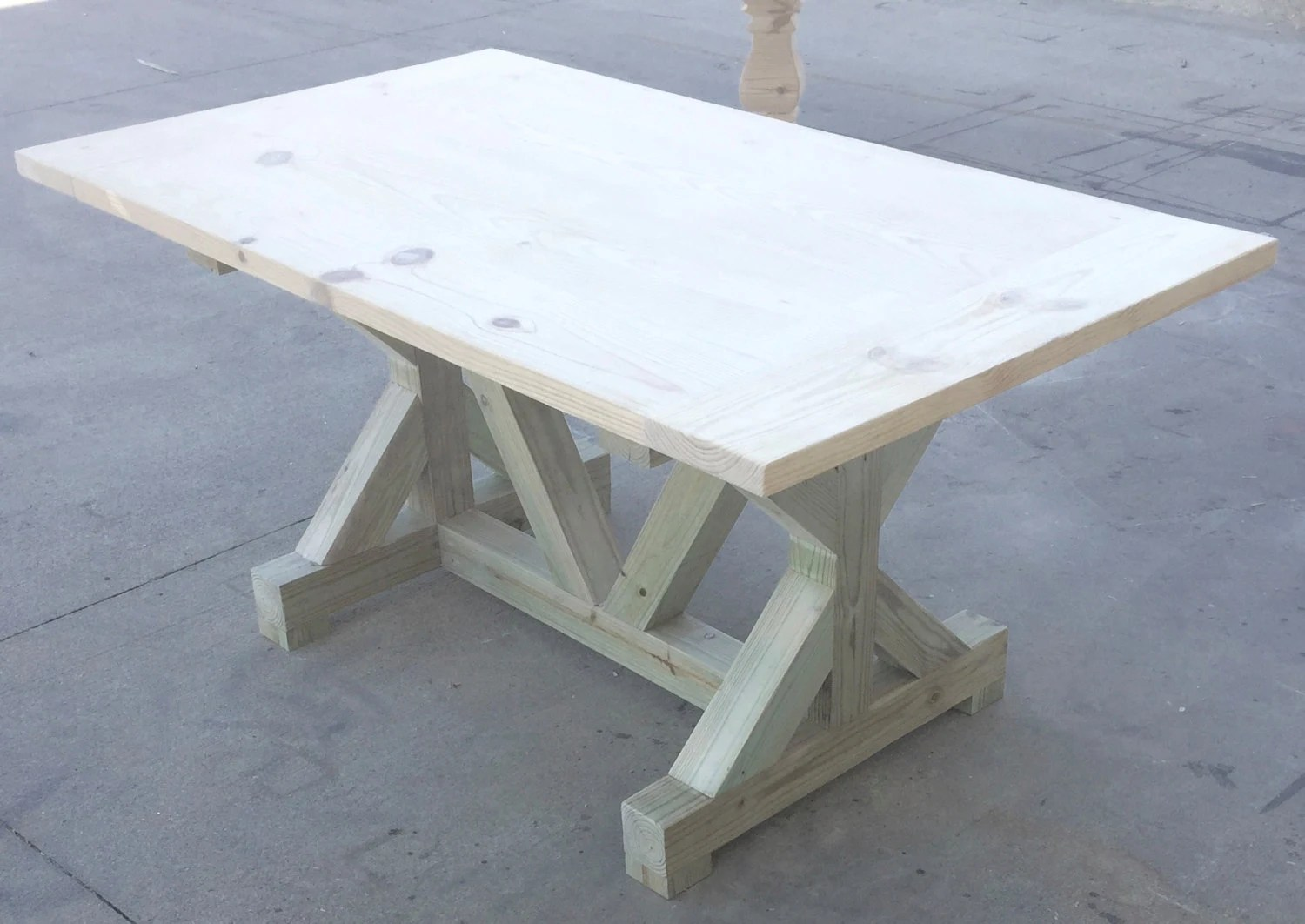 DIY Trestle Table By OnPointWoodDesign On Etsy