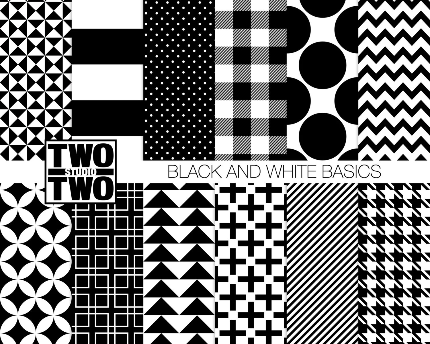 Checkered Black And Scrapbook Papers