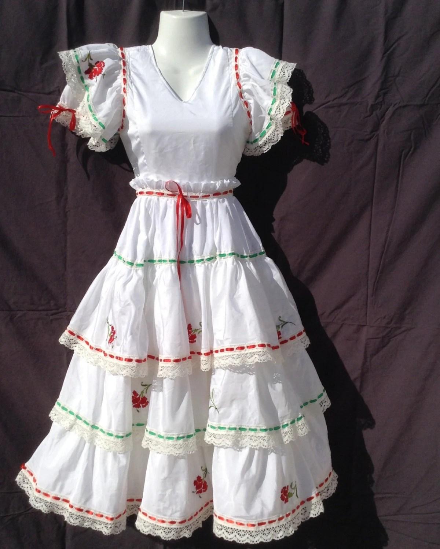 Girls Vintage Spanish Flamenco Dress 30 By