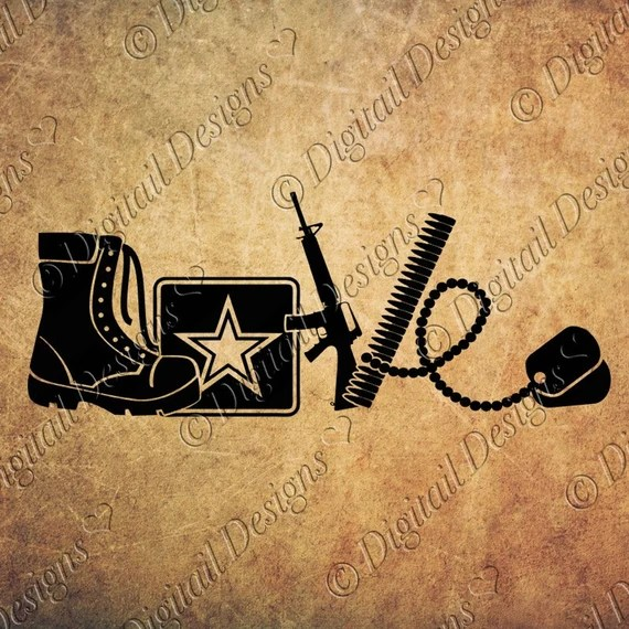 Download Love Army SVG PNG DXF Eps Fcm Ai Cut File for by ...