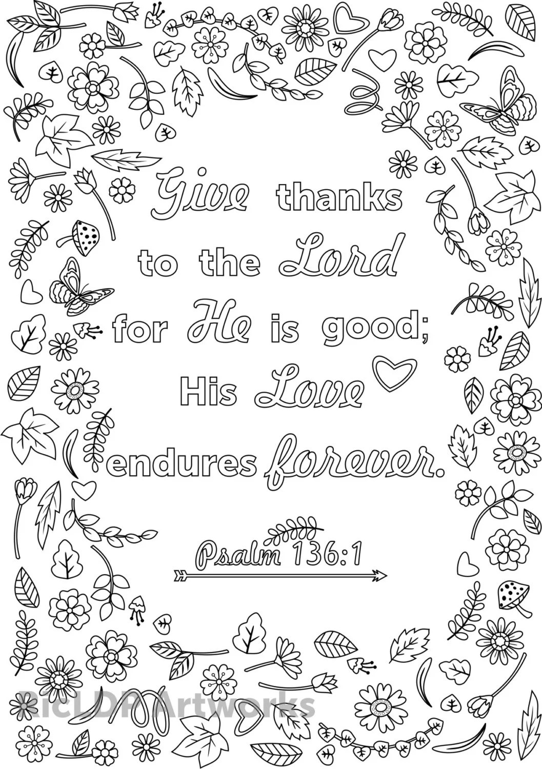 Three Bible Verse Coloring Pages For Adults Printable