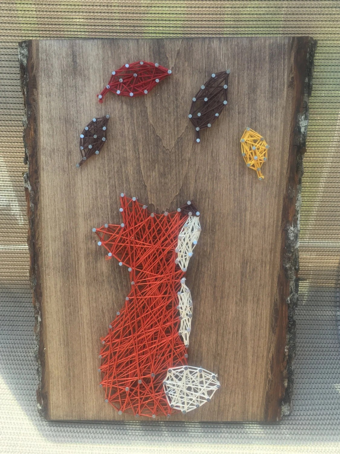 Items Similar To Fox With Fall Leaves String Art On Etsy