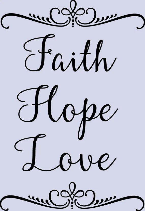 Download Items similar to Faith Hope Love - Cut File SVG on Etsy