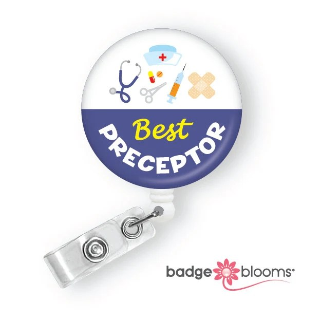 Preceptor Nurse Badge Reel Retractable Id Badge Clip