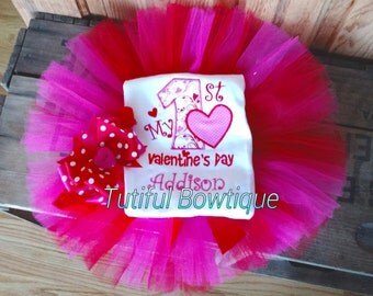 Items Similar To Toddler Valentine Outfit Girls Valentine Outfit Valentines Day Tutu Dress 2T 3T