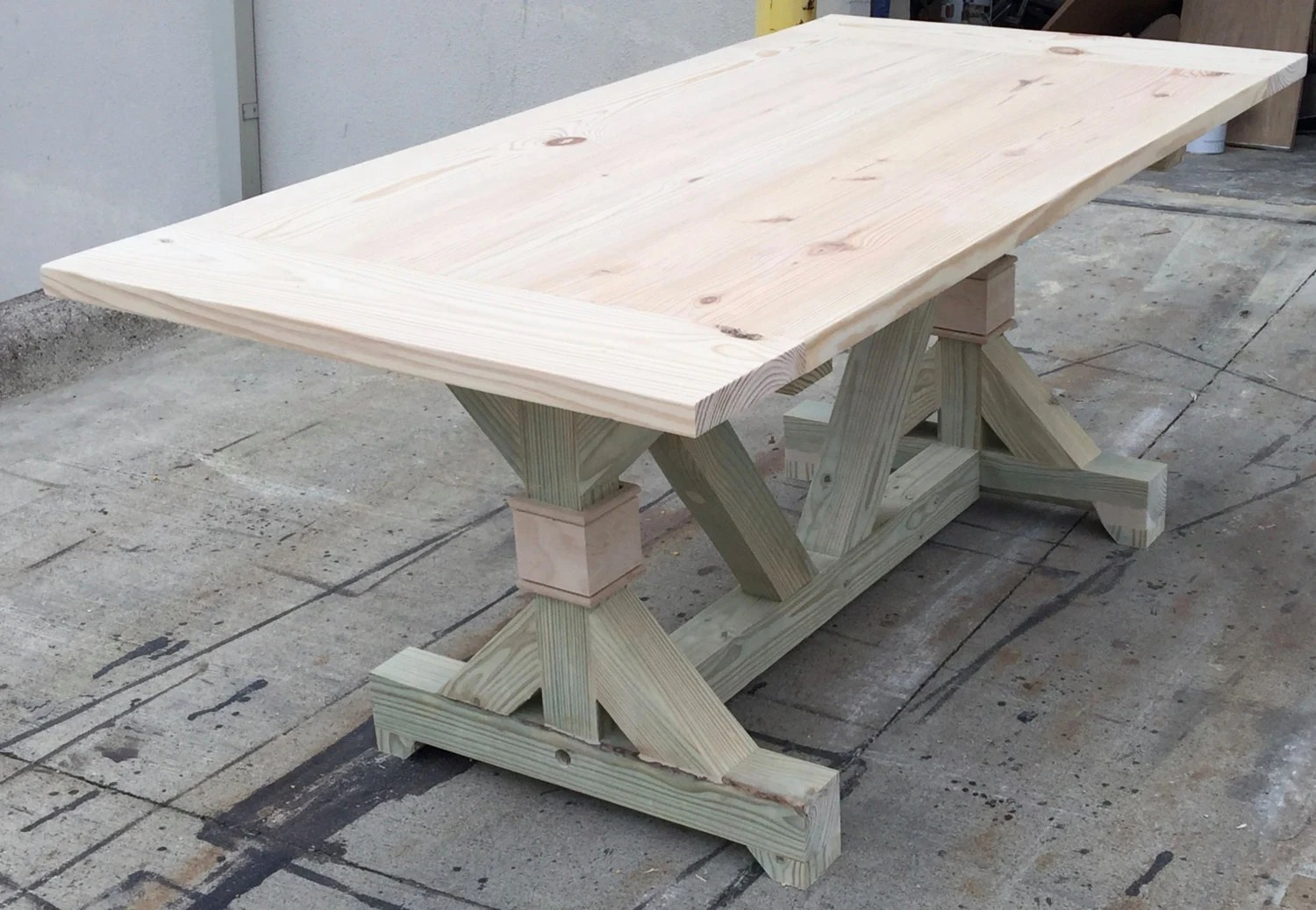 The DIY Fancy Trestle Table By OnPointWoodDesign On Etsy