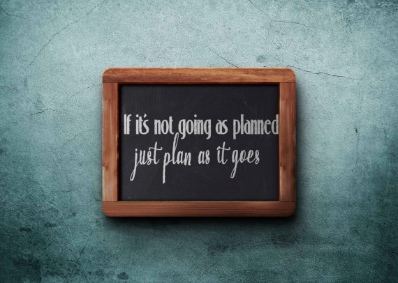"Digitale file Quote ""If it's not going as planned, just plan as it goes"" tegel wijsheid SVG snijbestand voor Cameo, Cricut etc"