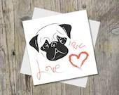 Pug Card - Pug Greetings ...