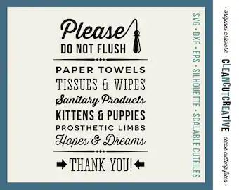 Do Not Flush Hopes Amp Dreams Funny Toilet Quote SVG Studio3