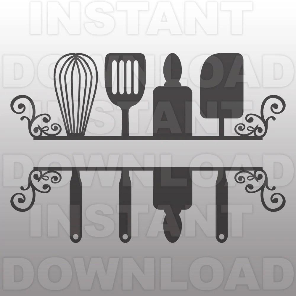 Download Kitchen SVG FileKitchen Monogram SVGKitchen FlourishVector