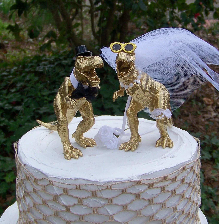 Dinosaur Wedding Cake Topper T Rex Cake Topper By