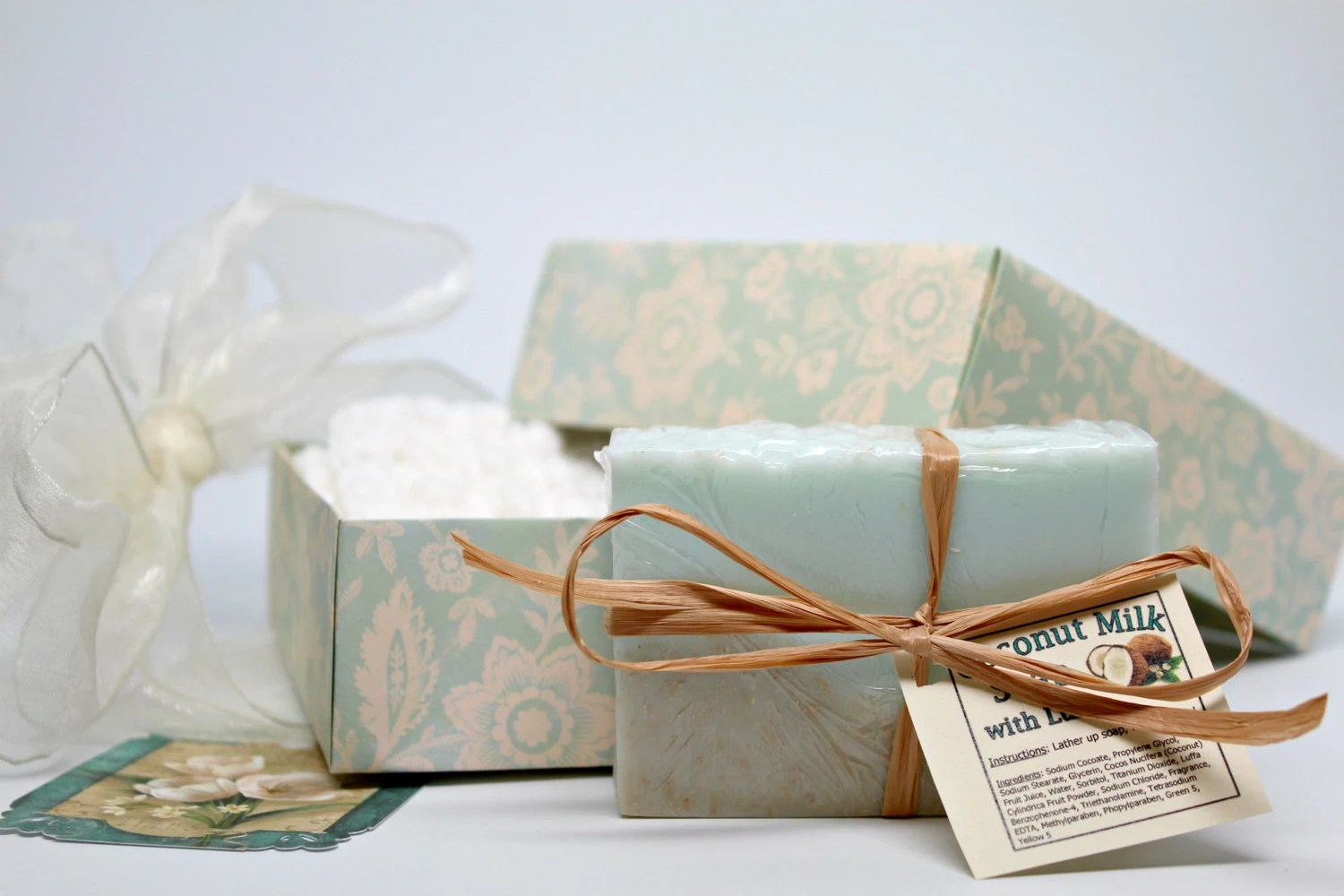 Women's Gift Set Spa Gift Basket Coconut Milk Soap And