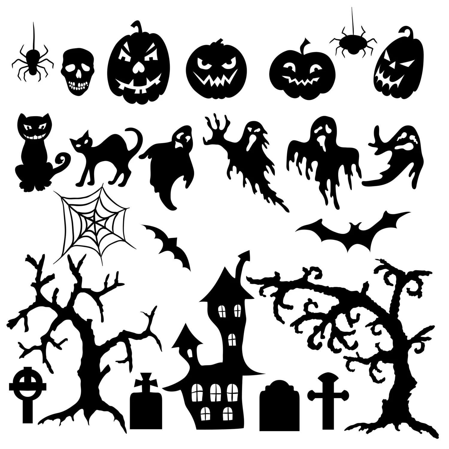 100 Halloween Graphics Bundle Decal Svg Cut Files Instant